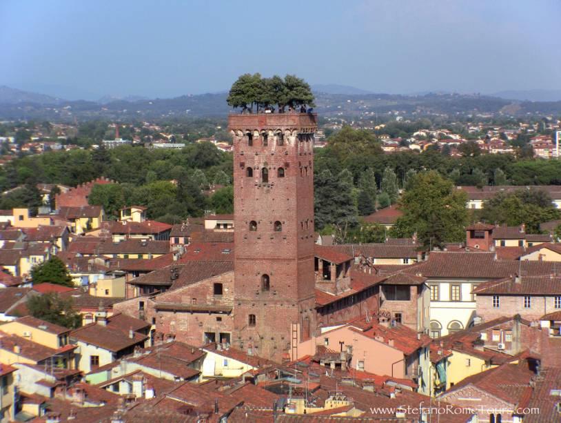 Um telhado ecológico na cidade medieval de Lucca