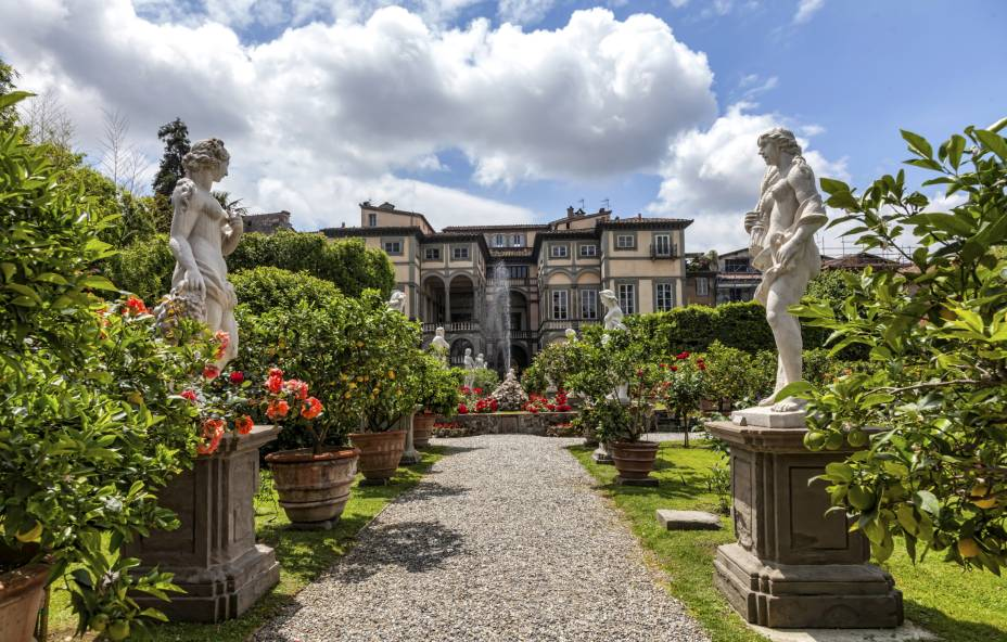 Jardins do Palazzo Pfanner em Lucca