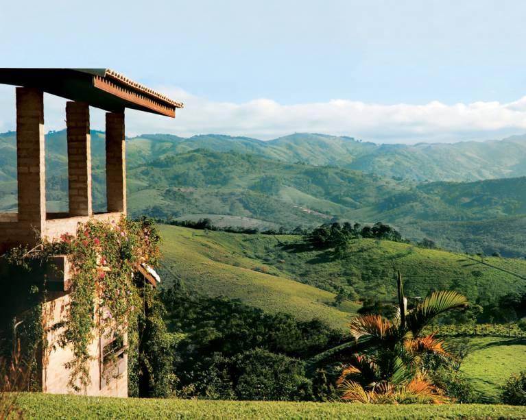 Chalé na Estalagem Shambala com vistas deslumbrantes sobre a Serra da Bocaina
