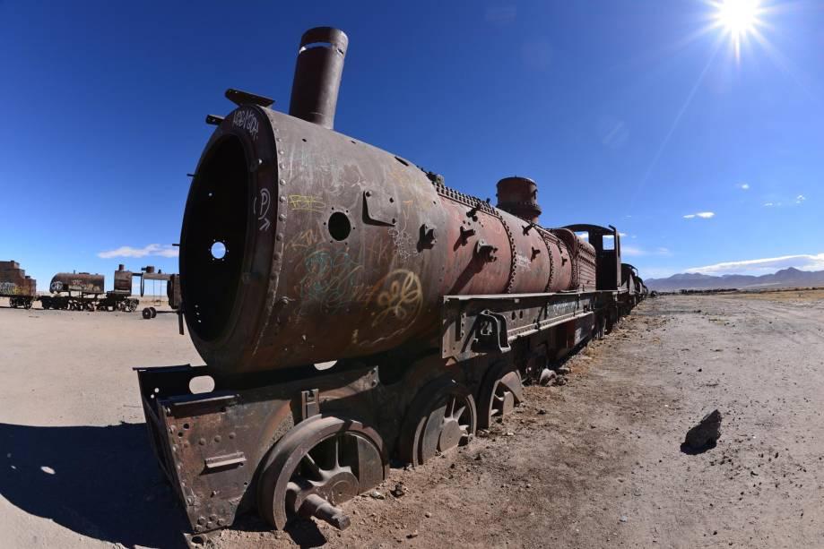 O cemitério de trens oferece o cenário perfeito para fotos