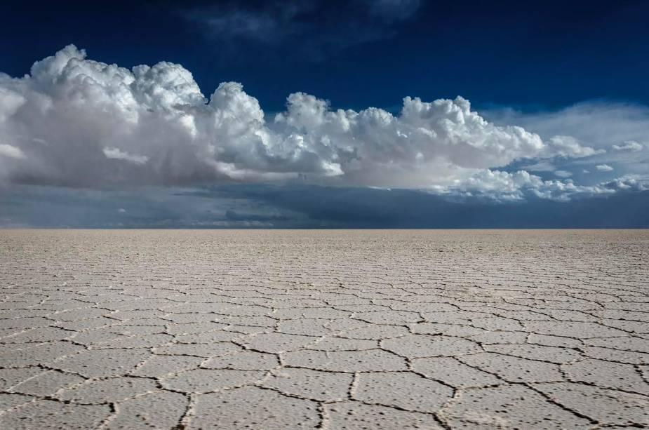 Salar de Uyuni, Bolívia, em tempos de seca (e frio)