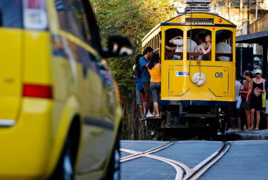 O extinto teleférico de Santa Teresa - Não existe mais transporte, mas a área ainda é famosa por seus charmosos bares, restaurantes, lojas de artesanato e lojas descoladas de Rio Point