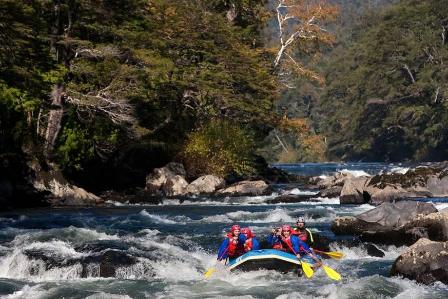 Rafting no Trancura na região de Pucón
