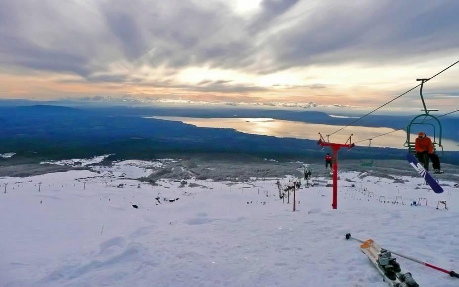 Área de esqui de Pucón no vulcão Villarrica