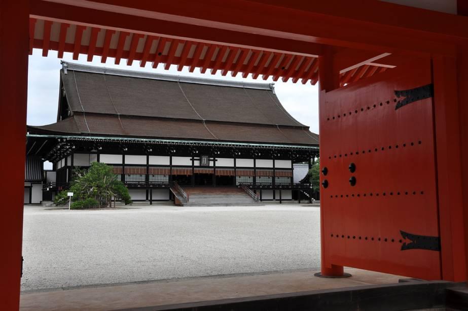 Shishinden Hall, onde ocorreram as cerimônias de entronização dos imperadores do Japão