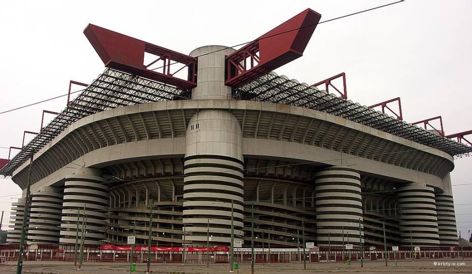 O estádio San Siro / Giuseppe Meazza recebe times fortes de Milão e Internazionale Milan