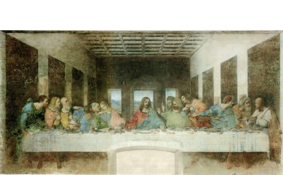 A Última Ceia, afresco de Leonardo da Vinci, em Santa Maria della Grazie