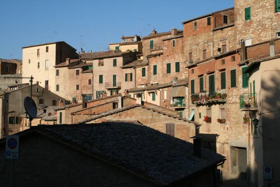 Casas medievais em Montepulciano