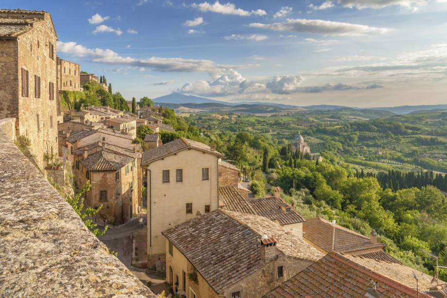 Toscana das alturas de Montepulciano