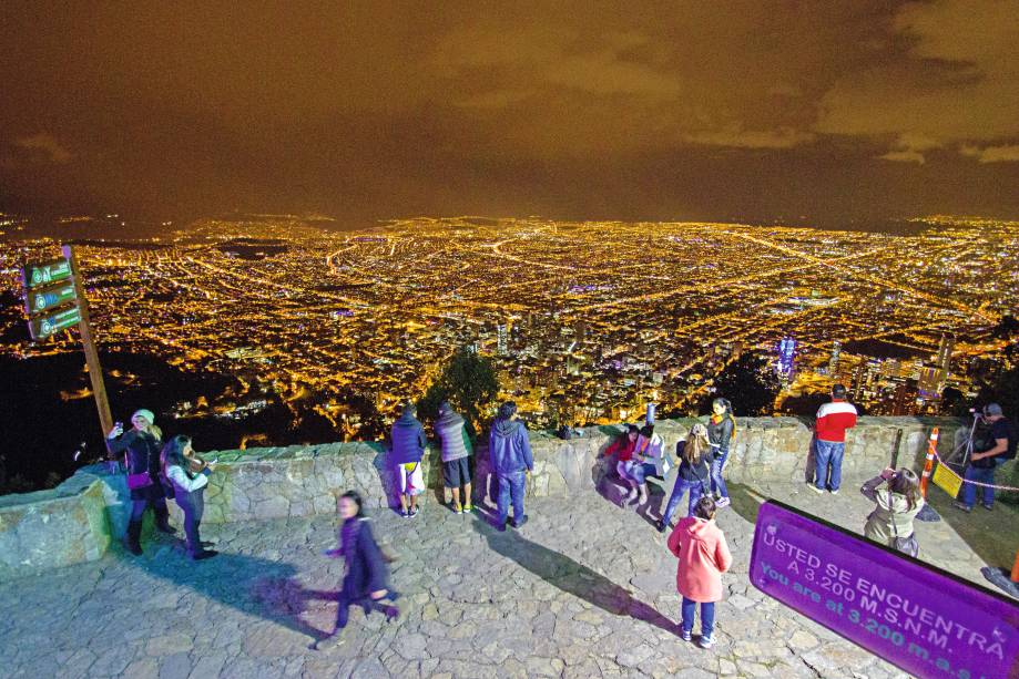 Excelente vista de Bogotá a 3.200 metros, não no Cerro de Monserrat