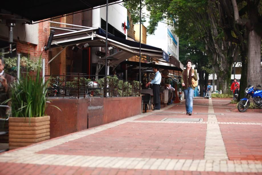 Bogotá tem alguns restaurantes excelentes e charmosos na chamada Zona T.