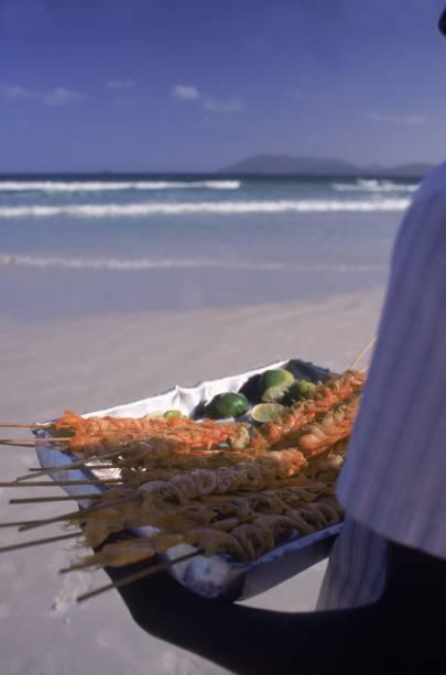 Delícias na praia de Cabo Frio