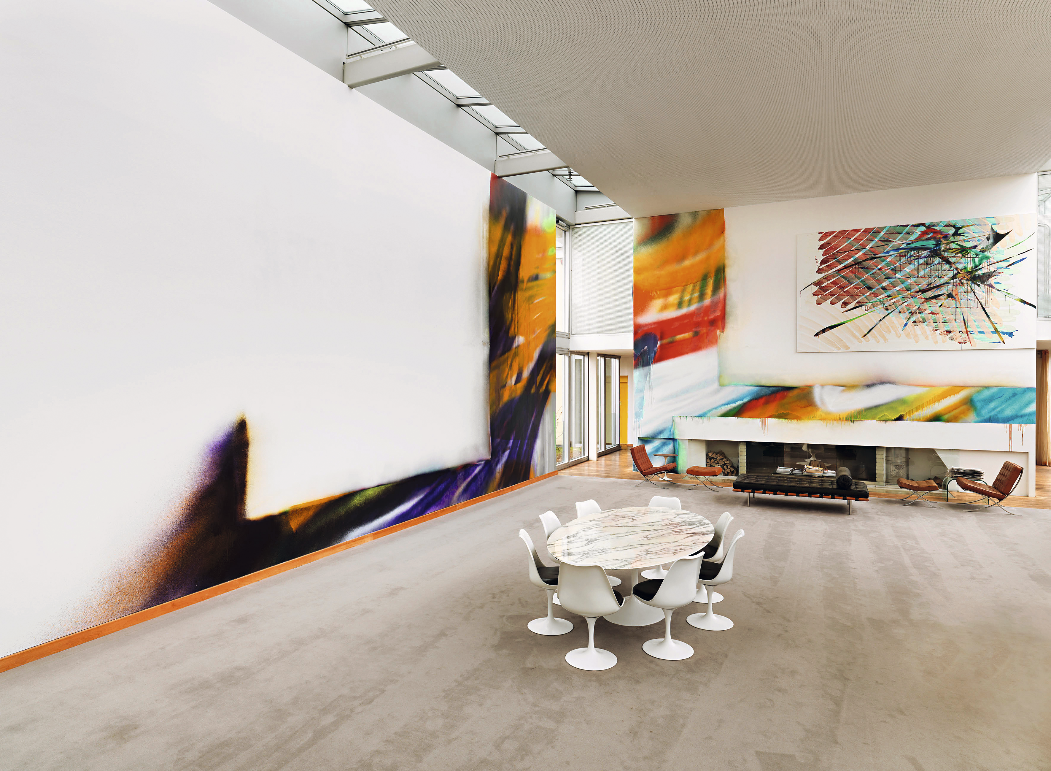 Obras de Katharina Grosse na coleção Galerie Hoffmann, Berlim