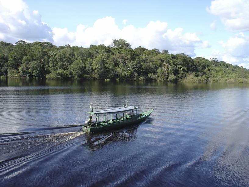 Os rios Negro e Solimões correm lado a lado por seis quilômetros até se tornarem os maiores do mundo, representou o Amazonas (AM)