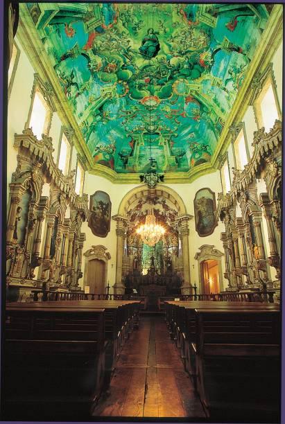 Igreja da Ordem Terceira de São Francisco com teto pintado pelo Mestre Ataíde