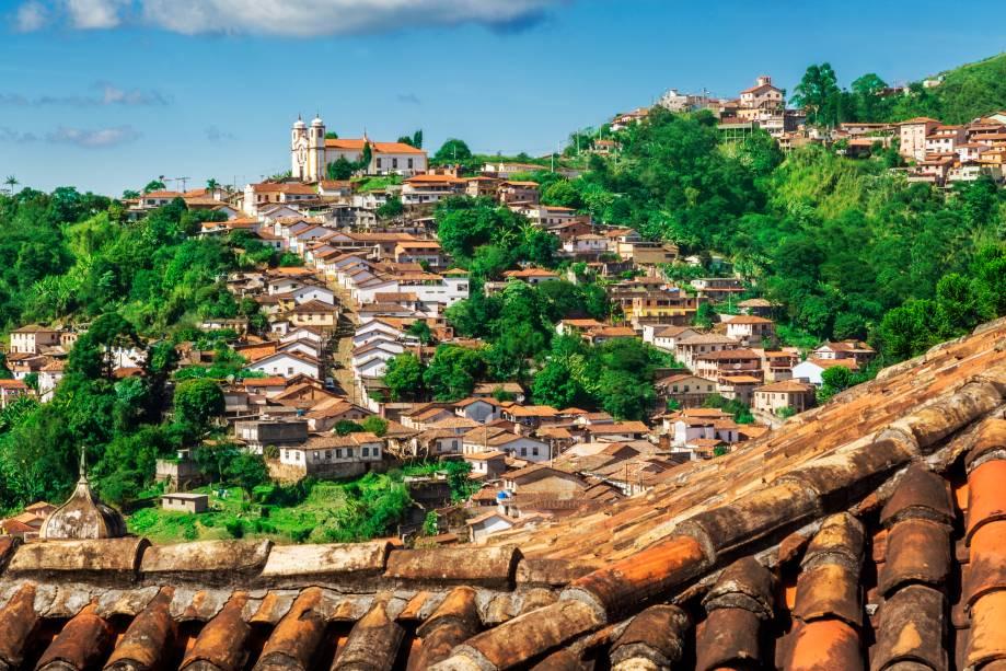 Vista da cidade por ouro preto