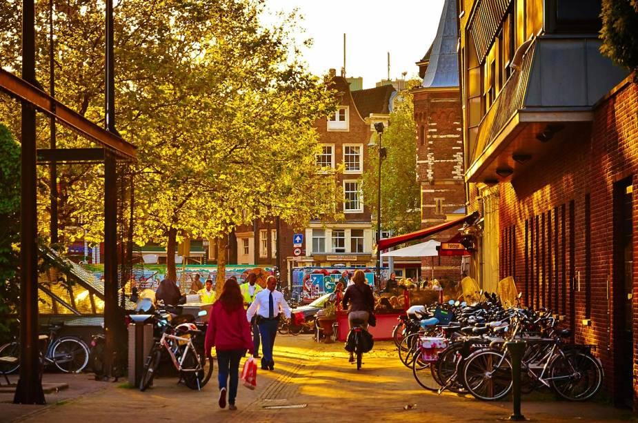 O percurso ao longo do Amstel é ideal para se acostumar com a vida de bicicleta em Amsterdã