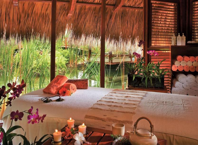 Bangalô de massagem no Paradisus Palma Real, um resort romântico em Punta Cana