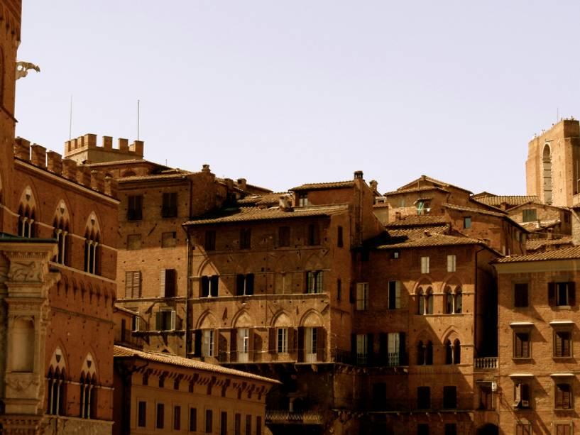 Casas medievais de Siena