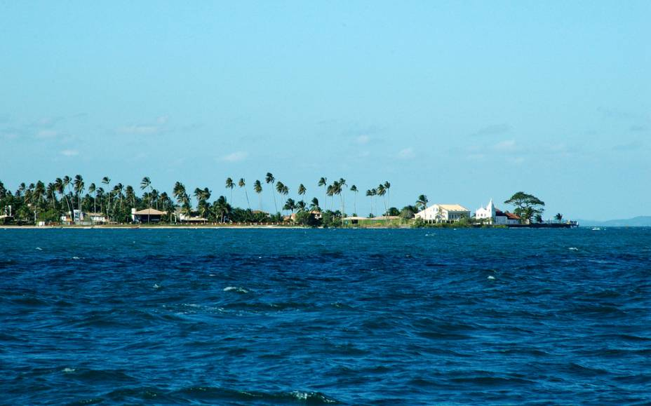A Praia da Penha está localizada em um complexo residencial com casas de temporada.