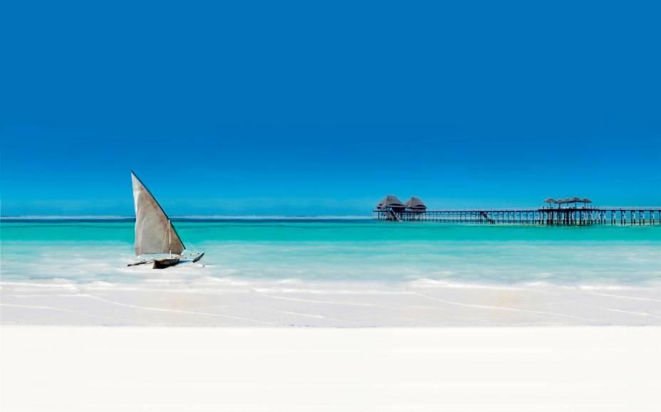 Zanzibar é um pequeno arquipélago na costa da Tanzânia que oferece variações de cores malucas, típicas do Oceano Índico