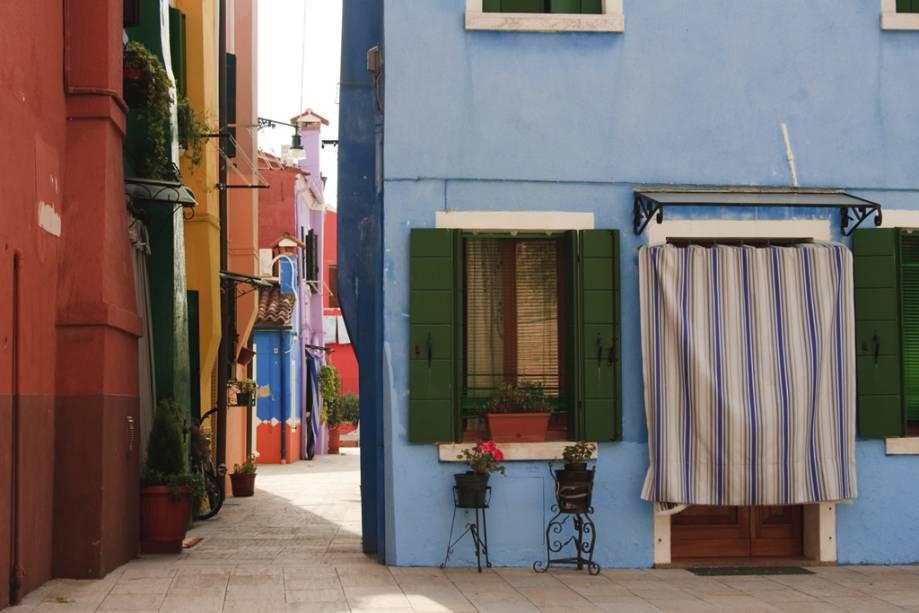 Casas na ilha de Burano, Veneza
