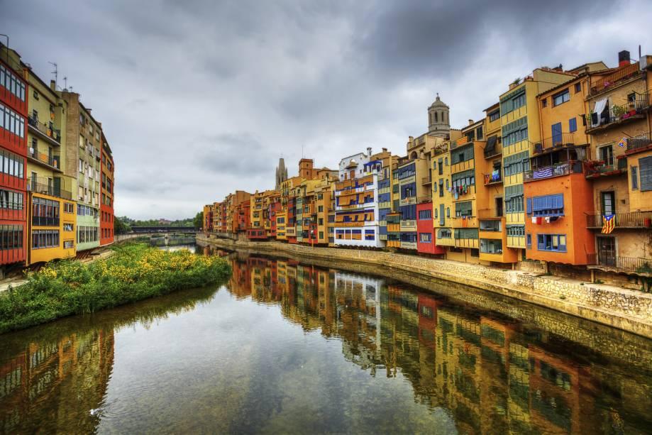 O onyar está constantemente presente nas paisagens de Girona