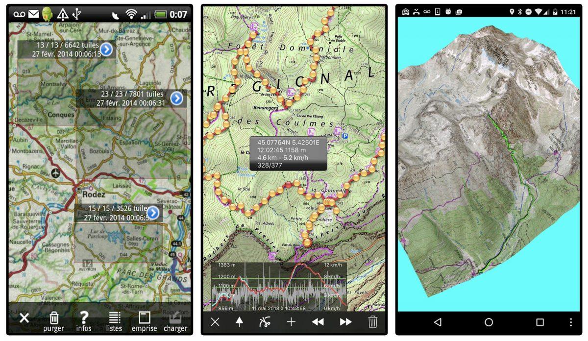 Aplicativo IPhiGénie Caminhadas no smartphone Aplicativo para caminhadas nas montanhas ao ar livre