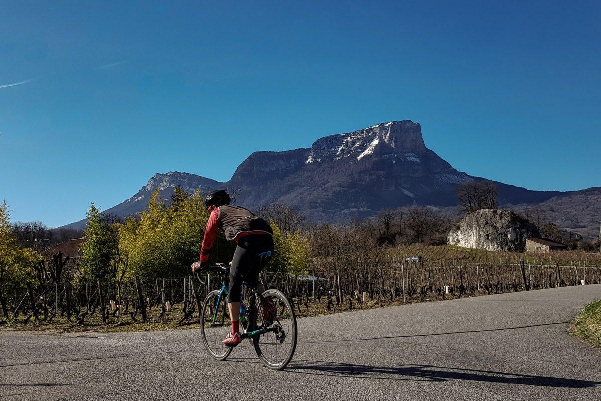 Ciclismo - Vignes d'Apremont Mont Granier Maciço de la Chartreuse Savoie Paisagem Paisagem de montanha Outdoor Mountain bike Racing
