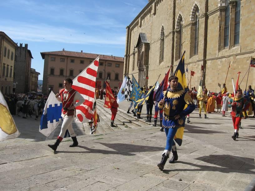 Giostra Del Saracino, show tradicional medieval em Arezzo