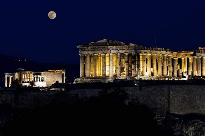 Acrópole de Atenas na Grécia