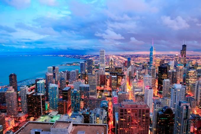 Chicago e Lago Michigan, Estados Unidos
