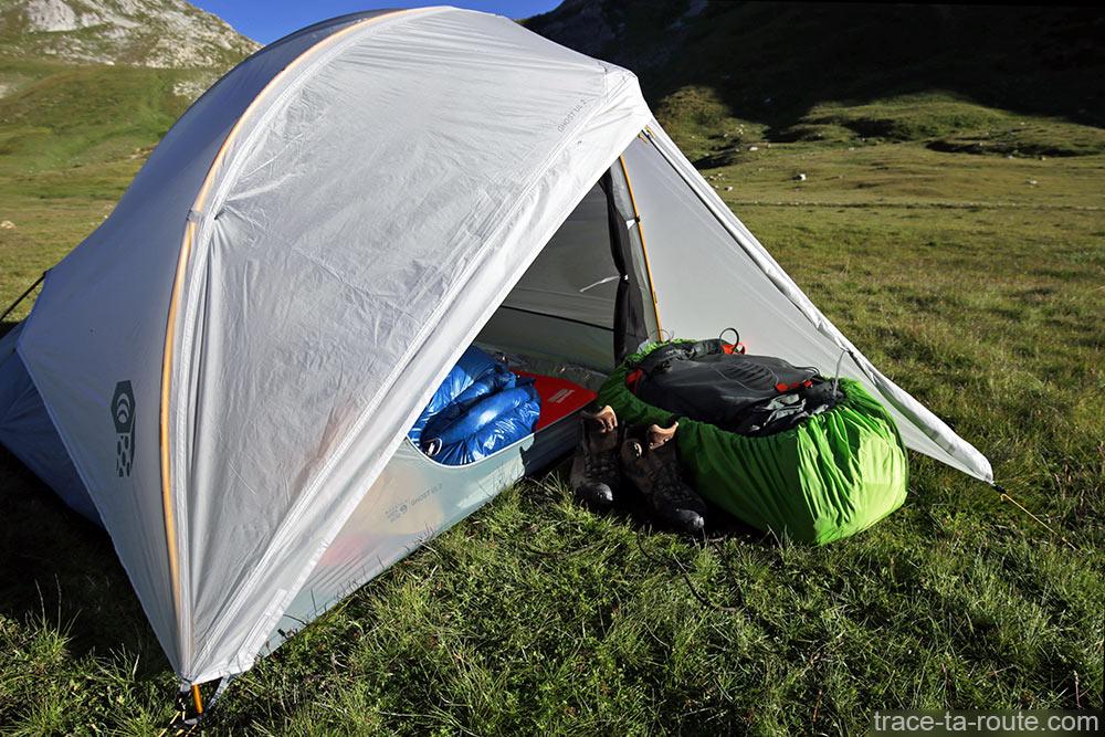 Tenda Ghost 2 UL Mountain Hardwear - área do vestíbulo