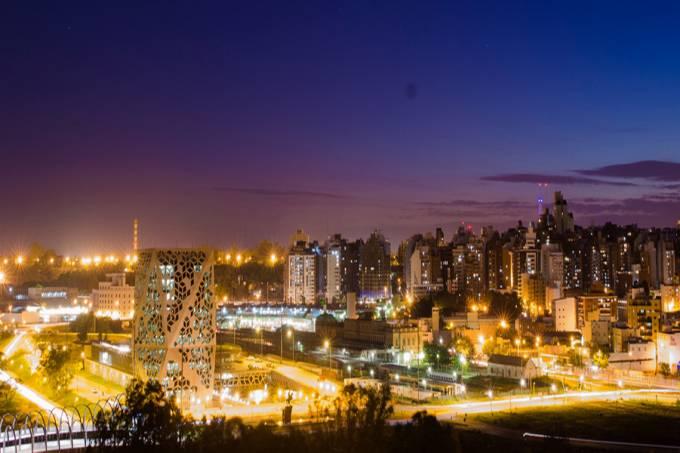 Panorama do centro e da nova região de Córdoba, Argentina