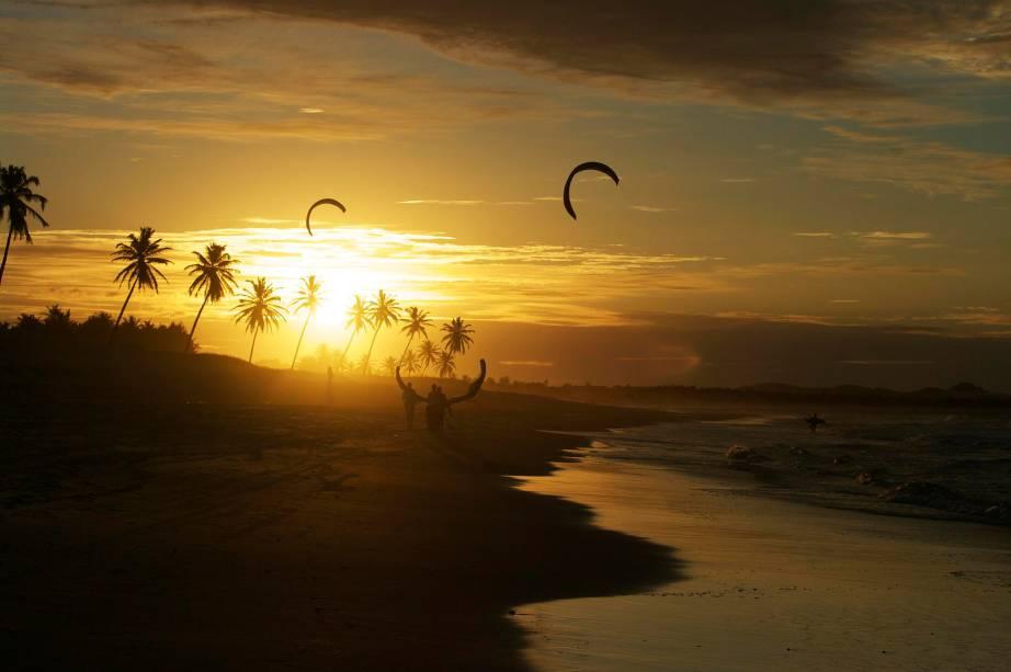 O pôr do sol do Cumbuco é famoso
