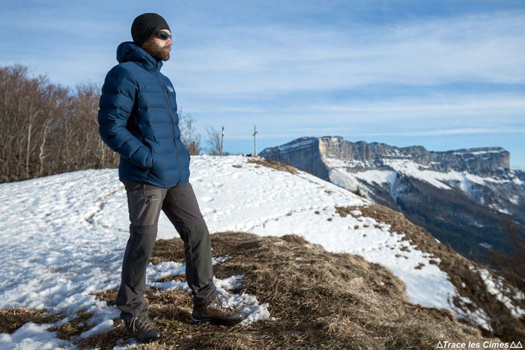 Jaqueta Stretchdown Plus Mountain Hardwear Test com capuz - Mont Joigny, Massif de la Chartreuse, Savoie