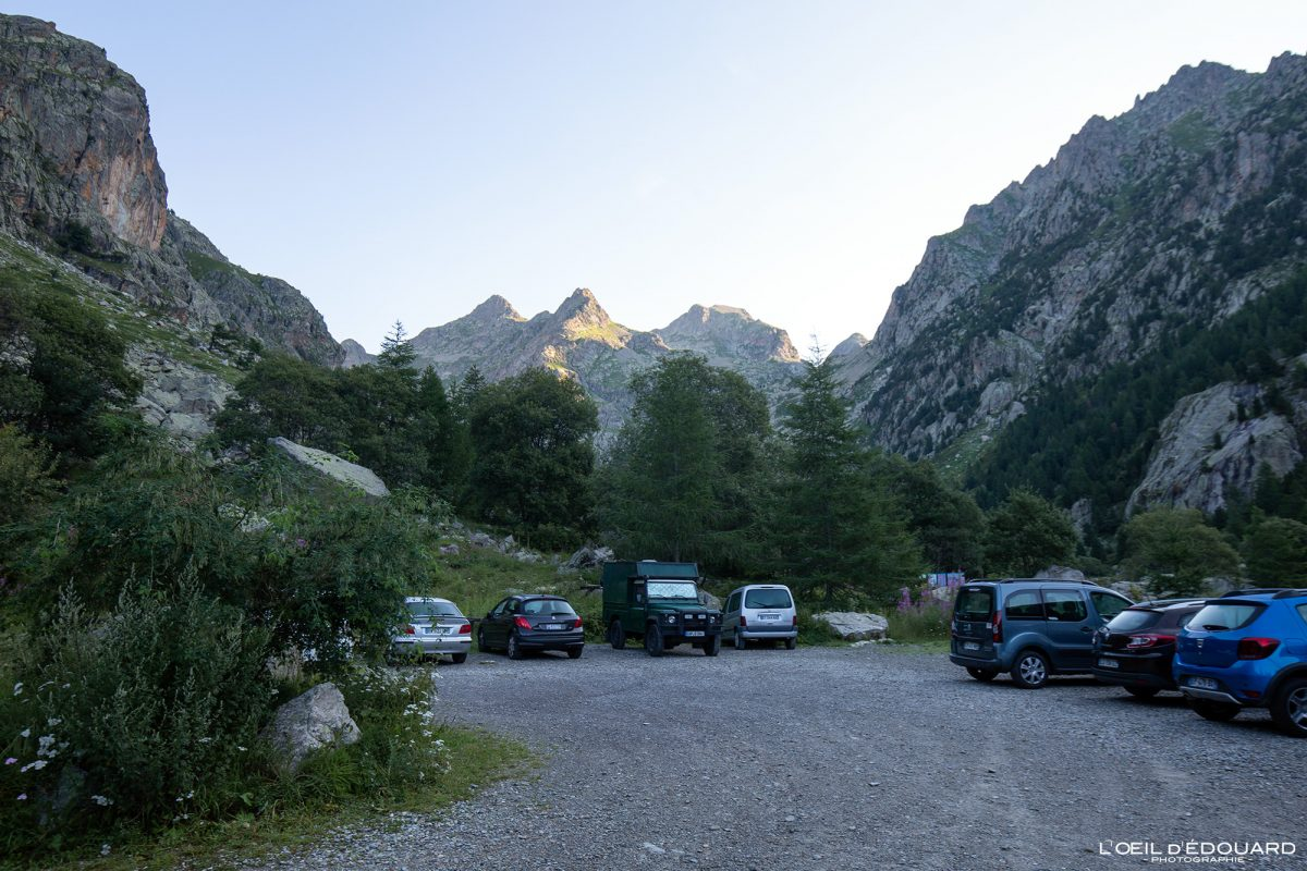 Estacionamento Pont du Countet - Maciço du Mercantour Alpes-Maritimes Provença-Alpes-Côte d'Azur / Caminhada paisagem montanhosa Caminhada paisagem montanhosa ao ar livre Caminhada