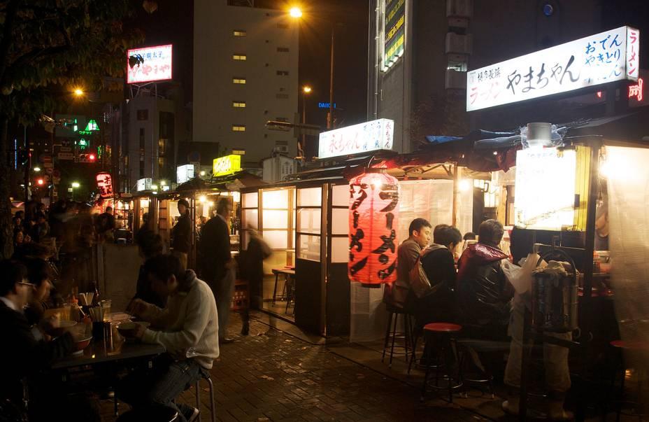 "O famoso Yatai, ""Quiosques"" com comida de rua"