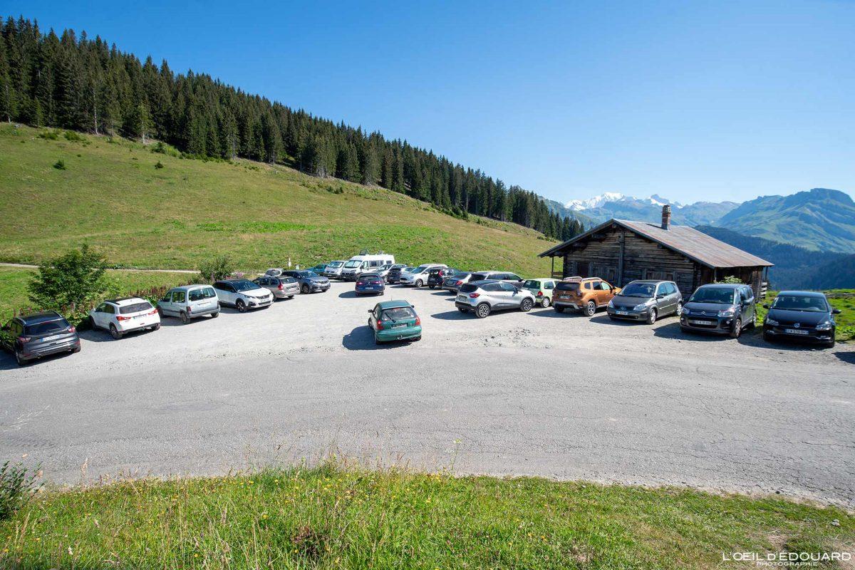 Estacionamento Col du Pré La Roche Parstire Beaufortain Savoie Alpes França Paisagem Montanha - Paisagem montanhosa Alpes franceses Caminhadas ao ar livre Caminhadas