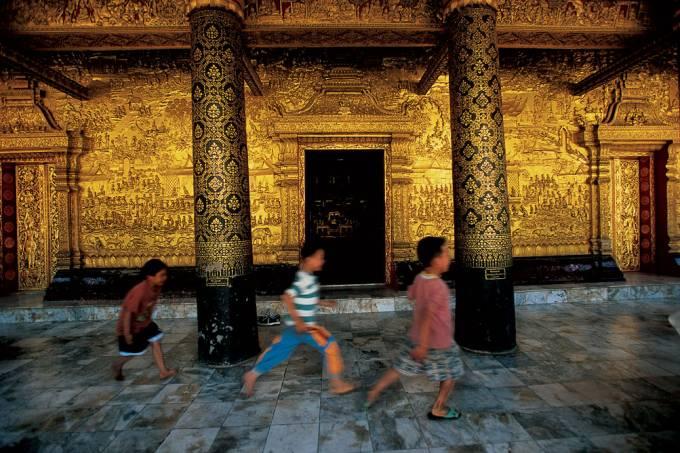 Templo de Luang Prabang no Laos