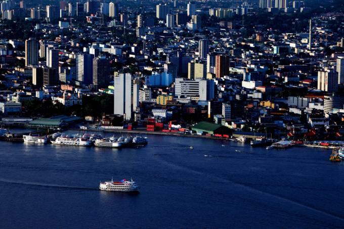 Vista aérea da cidade de Manaus