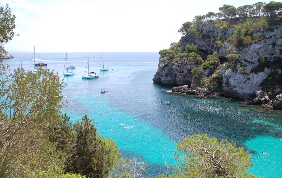 Cala Mitjana no sul de Menorca
