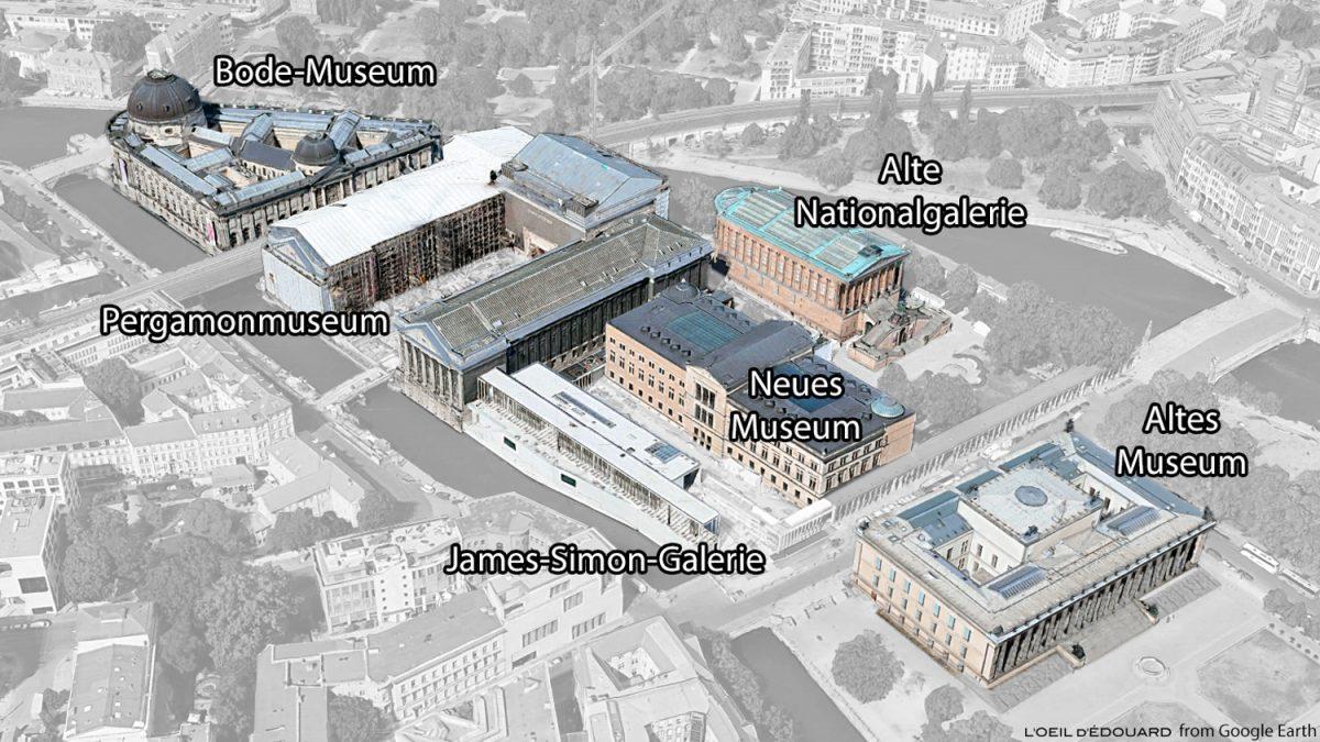 Mapa da Ilha dos Museus de Berlim na Alemanha / Mapa da Ilha dos Museus na Alemanha / Ilha dos Museus na Alemanha