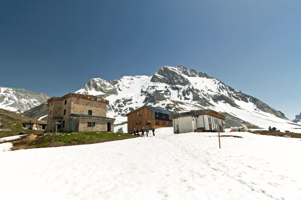 O Refúgio Col de la Vanoise e o Grande Casse (Parque Nacional de Vanoise)