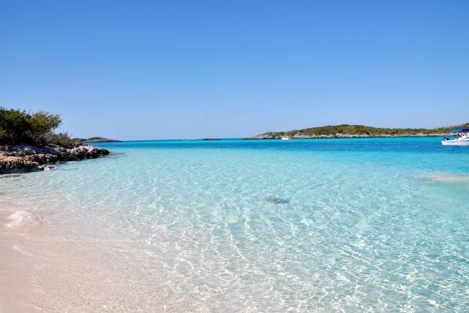 Praia em Nassau, Bahamas, Caribe