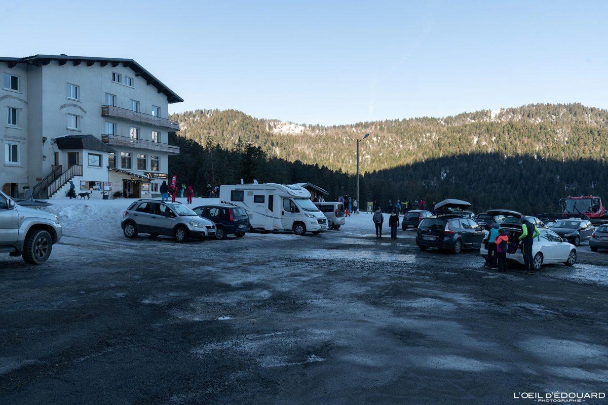 Alpes franceses Parc Les 2 Sommets Col de Porte Maciço de la Chartreuse Isère Neve Inverno Montanha Neve Paisagem montanhosa França Inverno