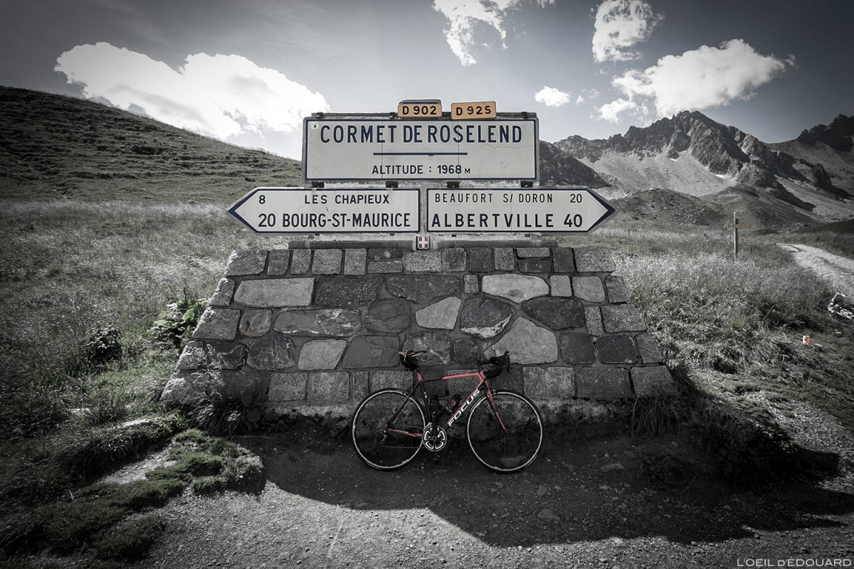 Le Cormet de Roselend de bicicleta, Le Beaufortain Savoie Alpes de bicicleta