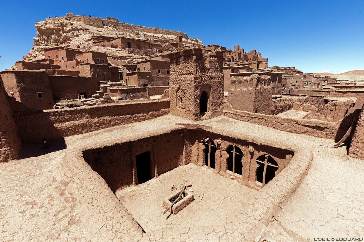 Kasbah Ait Ben Haddou no deserto de Marrocos, perto de Ouarzazate