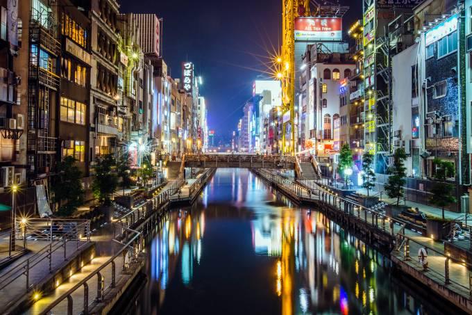 Canal Dotonbori, Osaka, Japão