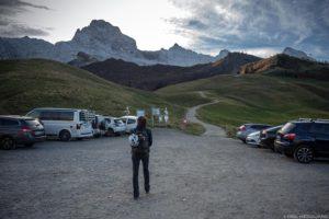O Pointe Percée do Col des Annes em Aravis / Haute-Savoie, Alpes